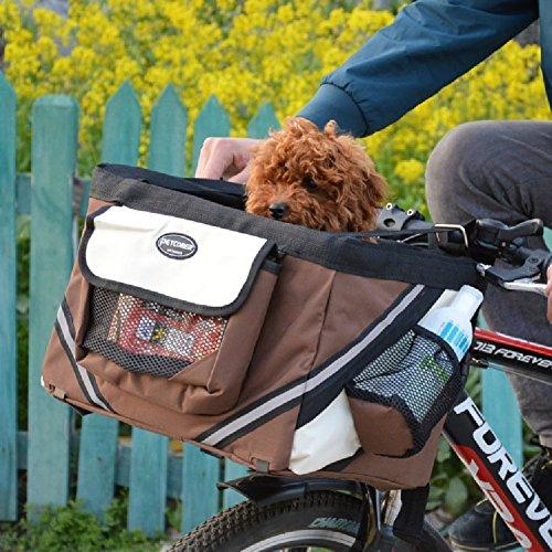 Hundekorb Fahrrad Praktisch Komfort für die besten Fahrradtouren Hundefahrradkorb Transportbox Fahrradkorb für kleine Hunde oder Welpen von Treat Me