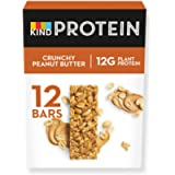 KIND® High Protein Bars, Healthy Gluten Free & Low Calorie Snacks, Crunchy Peanut Butter, 12 Bars (Packaging may vary)