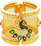 Best Bling Jewelry Mens Bracelets - Bling N Beads Peacock Collection Golden Adjustable Bangle Review