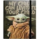 Grupo Erik - Carpeta 4 anillas troquelada Baby Yoda - The Mandarlorian, Star Wars, A4 (26x32 cm)