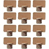 Amajoy 12pezzi vintage matrimonio posto titolari di carta in legno con 12pezzi Kraft segnaposto da tavola numero supporto p