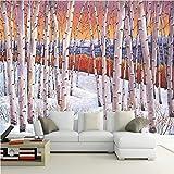 Wapel Wallpaper Wandbilder Wall Sticker Hand Gemalte Bäume Birke Wald Öl Malerei Hintergrund Wand 430 Cmx 300Cm
