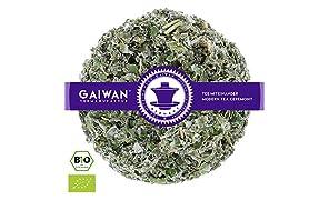 """Núm. 1411: Té de hierbas orgánico """"Hojas de frambuesa"""" - hojas sueltas ecológico - 100 g - GAIWAN® GERMANY - frambuesa de la agricultura ecológica en Polonia"""