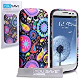 Yousave Accessories Quallen Silikon Schutzhülle Mit Displayschutzfolie Für Samsung Galaxy S3