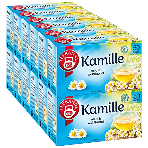 Teekanne Kamille 50 Beutel, 12er Pack (12 x 75 g)