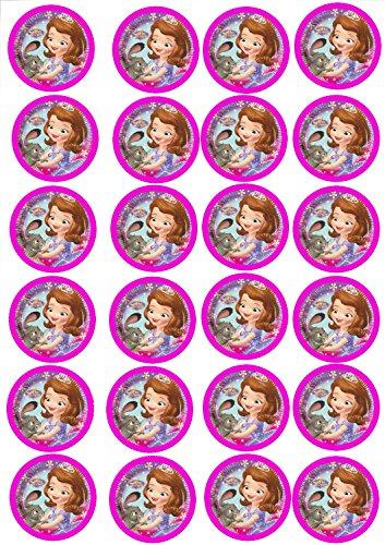 24 Muffin & Cupcake Aufleger Fondant Sofia die Erste C7