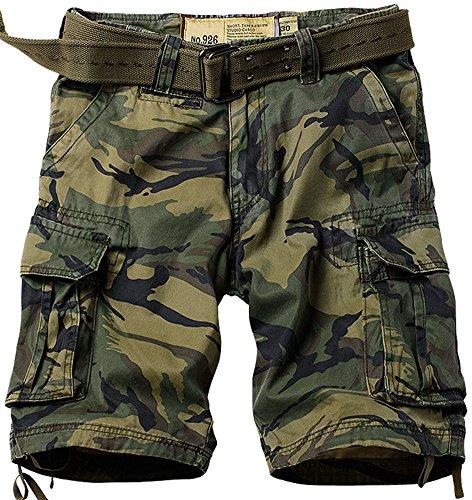 Mochoose Men's Summer Casual Cotton Twill Cargo Shorts 1/2 Multi Pockets Camo Outdoor Wear Pants