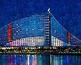 Diy 5D Pintura De Diamante Conjunto Hotel De Playa De Jumeirah Dubai Imágenes Taladro Cuadrado Explora La Creatividad Y La Resolución De Problemas Sin Marco 40X50Cm