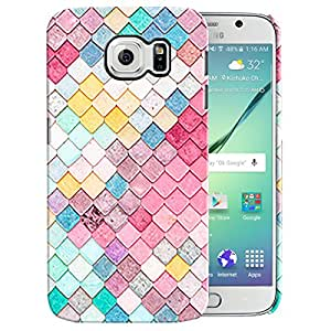 Theskinmantra Multicolor squares back cover for samsung Galaxy S6