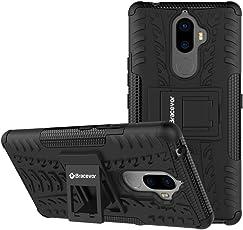 Bracevor Shockproof Lenovo K8 Note Hybrid Kickstand Back Case Defender Cover - Black