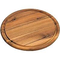 KESPER 28444 Set da 10 piatti in legno di acacia  per carne   Oslash  30 cm  certificato FSC reg   adatto anche come piatto per la pizza o come tagliere