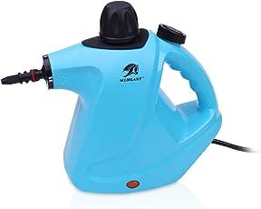 MLMLANT dampfreiniger Mehrzweck-große Kapazität 450ML Wassertank mit Handdampfreiniger Druck mit 9-teiliges Zubehör für Fleckenentfernung, Teppiche, Vorhänge, Bettwanzen-Steuerung, Autositze ...