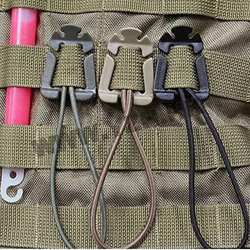 Forfar Beautyrain 5Pcs Accrocher la Boucle Accrocher la Sangle de Sangle de Sac à Dos élastique de Sangle de Sac à Dos