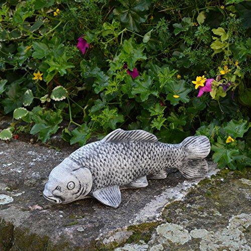 Großer Koi Fisch Farbe schwarz Buddha Feng-Shui aus Steinguss, - Feng-shui Koi Fisch