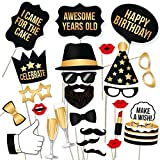 Party Propz Generic Birthday Photobooths (Multicolour, PHO04) - Set of 23