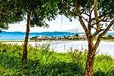 Alu-Dibond-Bild 110 x 70 cm: 'The city beside Kwan Phayao lake, Thailand', Bild auf Alu-Dibond