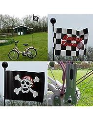 Kinderfahrradfahne 1,60m, Kinder Sicherheits Fahrrad Fahne Flagge Wimpel schwarz