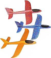 Contever Alianti in Volo Schiuma Aerei Aereo Modello dei Bambini Ragazza Giocattolo Confezione da 3 per Sport all'aria Aperta, 48cm / 18.9 Pollici