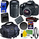 Canon EOS Rebel T6 Digital SLR Camera With EF-S 18-55mm IS II & EF-S 55-250mm IS STM Zoom Lenses - International Version (No ) + 32GB Accessory Kit W/ HeroFiber Ultra Gentle Cleaning Cloth
