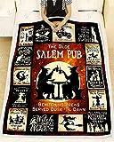 utong Coperte Premium The Olde Salem Pub Strega Coperta SO Ft Poliestere Uomo Donna novità Coperta indossabile Leggera Nera