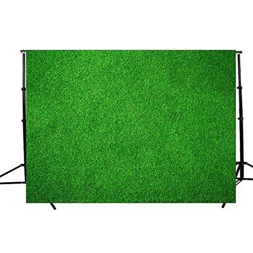 DODOING Fotohintergrund, Bunte Ziegelsteine, Foto-Requisite, Studiohintergrund, 17,8 x 1,5 m (aktualisiertes Material) 2.1x1.5m-(7x5ft) Natural Green Lawn
