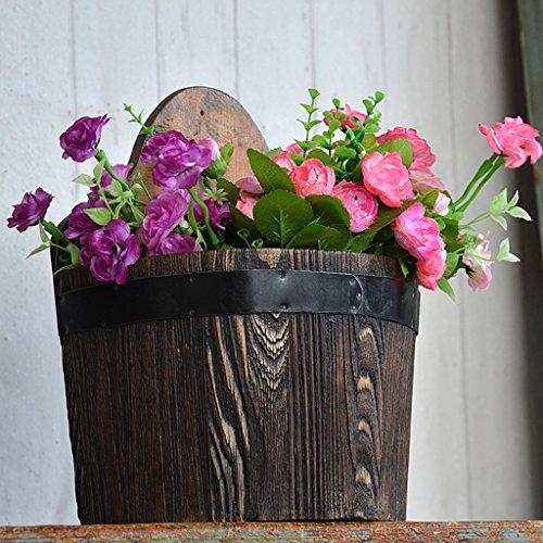 MEILING Verkokung Antikorrosion Wandbehang Massivholz Halbe Ein Barrel  Blumentopf Wanddekoration Blumenkorb Balkon Gua Bi Grünpflanzen Pflanzen