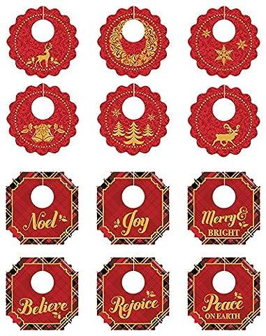 Papier maison Productions vacances Plaid Boisson Étiquettes, multicolore