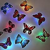 Decalcomanie della parete notte LED wall sticker luce luce farfalla LyDecor 3D per la funzione di decorazione nursery baby room, 8pcs