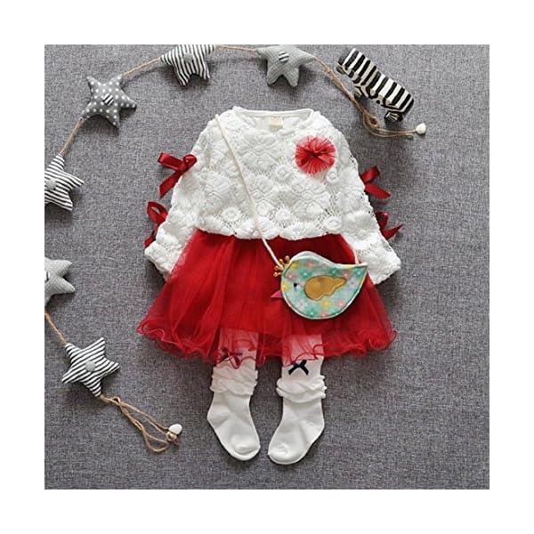 K-youth® Bebé niñas niños Manga Larga Vestido Ropa Bebe niña recién Nacido Conjunto de Ropa 3
