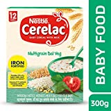 #8: Nestle Cerelac Fortified Baby Cereal with Milk, Multigrain Dal Veg – From 12 Months, 300g Pack
