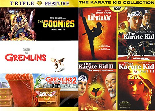 The Goonies Karate Kid Gremlins DVD Collection | Gremlins 2 80's+ The Karate Kid 4 Movie Collection