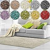 Shaggy Teppich Bali | weicher Hochflor Teppich für Wohnzimmer, Schlafzimmer und Kinderzimmer | mit GUT-Siegel | verschiedene Größen | viele moderne Farben (66 x 130 cm, creme)
