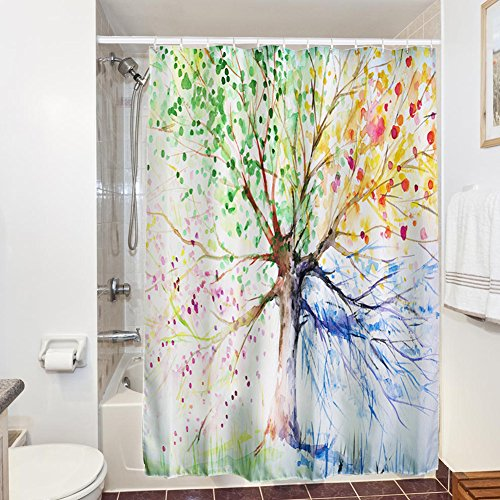 shower-curtains-with-12-hooks-71x79-inches-3d-printing-water-ink-colorful-tree-decor-bath-curtain-wa