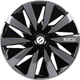 SPARCO SPC1391BKGR 4 wheel trims hubcaps 13 inches LAZIO black/grey, 13', Set of 4