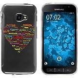 PhoneNatic Case für Samsung Galaxy Xcover 4 Silikon-Hülle pride Herz M5 Case Galaxy Xcover 4 Tasche + 2 Schutzfolien