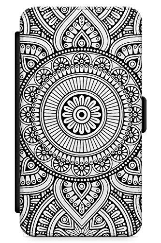 Case Warehouse iPhone 4 / 4s Schwarz Henna Kreis Schutz Gummi Handyhülle TPU Bumper Mehndi Blumen Spitze Tatoo Mandala