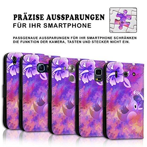 Wallet Book Style Flip Handy Tasche Case Schutz Hülle Schale Motiv Etui für Apple iPhone 4 / 4S - Variante UMV7 Design12 Design 3