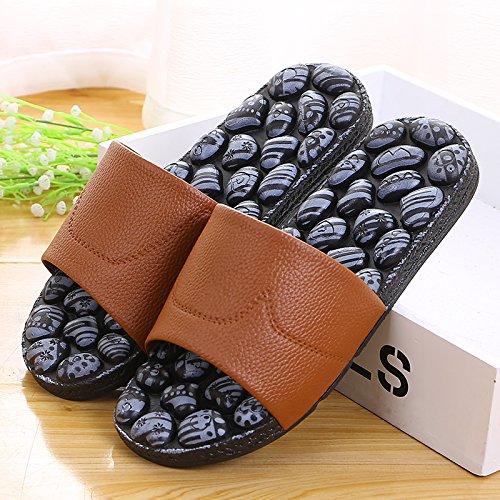 massaggio le pantofole, la antiskid bagno?,39 Rosa 41 Brown