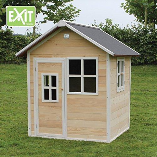 EXIT Loft 100 / Spielhäuschen mit Tür + 3 Fenstern / Material: Zedernholz / Maße: 140,5 x 149 x 160 cm / Gewicht: 63 kg / 3+