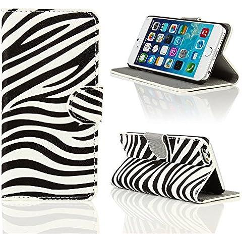Kit Me Out ES Funda estampada apertura lateral cuero sintético para Apple iPhone 6 4.7