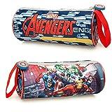 Marvel Avengers 61220 Astuccio, Tombolino, Scuola, 21 Centimetri, Applicazioni, Poliestere, Multicolore, Captain America, Thor, Hulk, Iron Man