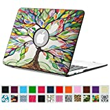 """Fintie MacBook Air 13 Inch Case - Premium Vegan Leather Coated Hard Shell Protective Case Cover For Apple MacBook Air 13.3"""" (A1466 / A1369), Love Tree"""