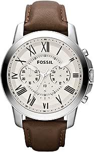 Fossil Orologio Cronografo Quarzo Uomo con Cinturino in Pelle FS4735IE