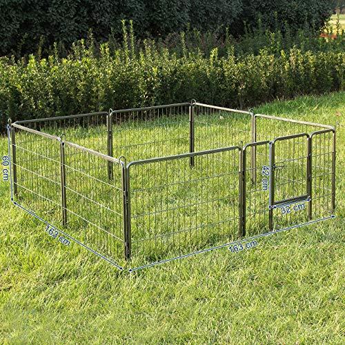 Songmics Welpenauslauf für Hunde Kaninchen 80 x 60 cm PPK86G - 5