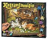 Schipper 609130361 - Malen nach Zahlen - Katzenfamilie, 40x50cm