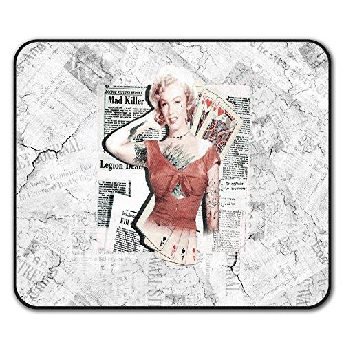Monroe Deck (Monroe As Diva Berühmtheit Mouse Mat Pad, Zocken Rutschfeste Unterlage - Glatte Oberfläche, verbessertes Tracking, Gummibasis von Wellcoda)