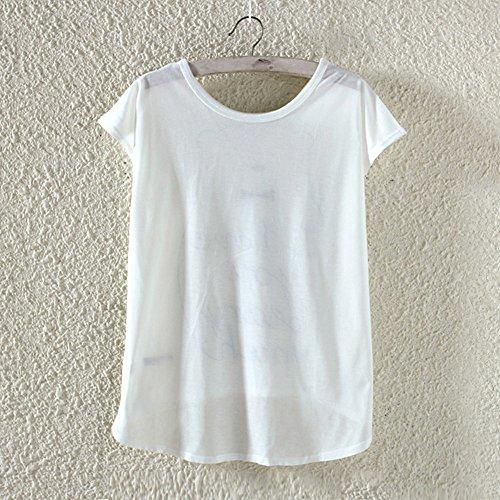 yichun Damen Mädchen leicht T Shirt Tops Freizeit-Zwangsjacke Tunika Bluse Tees CARACO Ailes 3#