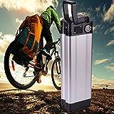 Batería eléctrica 36V 10Ah, Landcrossers Estilo de pescado Batería de litio-ion para bicicleta eléctrica Adecuado para 200-350W-Recharge 800 veces, Protección BMS para bicicleta eléctrica