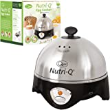 Nutri-Q 34360 Healthy Eating Egg Boiler with Poaching Tray, Stainless Steel, 360 W