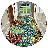 HAIPENG-alfombras pasillo Tamaño Personalizado Corredor para Cocina Y Entrada Antideslizante Espalda Largo Corredor Estera Contemporáneo (Color : A, Tamaño : 1.4x5m)